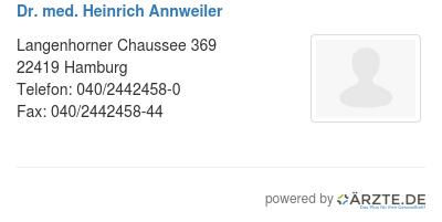 Dr med heinrich annweiler