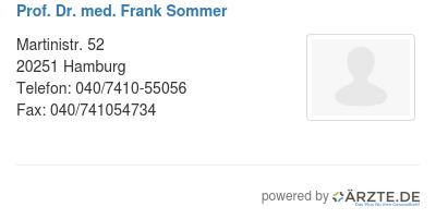Prof dr med frank sommer