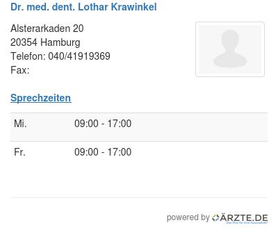Dr med dent lothar krawinkel 248824