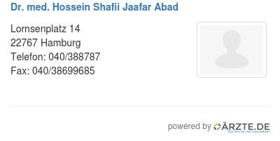 Dr med hossein shafii jaafar abad