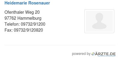Heidemarie rosenauer