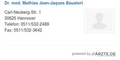Dr med mathias jean jaques baustert