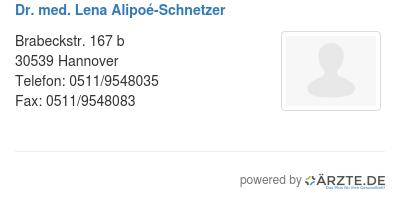 Dr med lena alipoe schnetzer 579744