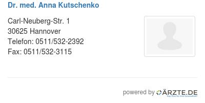Dr med anna kutschenko