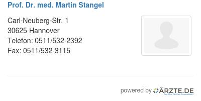 Prof dr med martin stangel