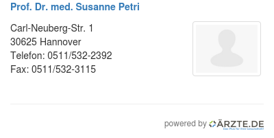 Prof dr med susanne petri