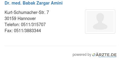 Dr Med Babak Zargar Amini In 30159 Hannover Fa Für Orthopädie Und