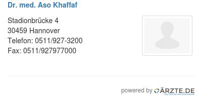 Dr med aso khaffaf