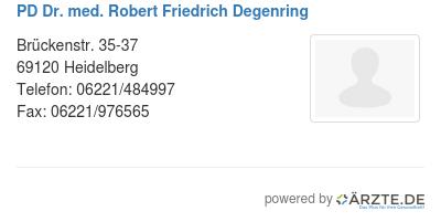 Pd dr med robert friedrich degenring 579602