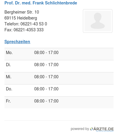 Prof dr med frank schlichtenbrede 580135