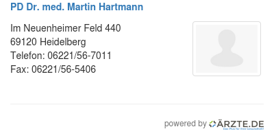 Pd dr med martin hartmann