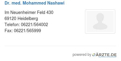 Dr med mohammed nashawi