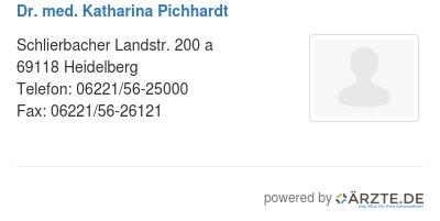 Dr med katharina pichhardt