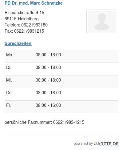 Pd dr med marc schnetzke