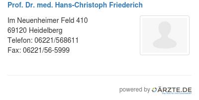 Prof dr med hans christoph friederich 579180