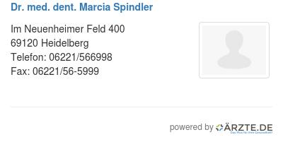 Dr med dent marcia spindler