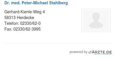 Dr med peter michael stahlberg