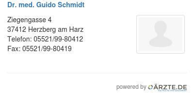 Dr med guido schmidt 529226