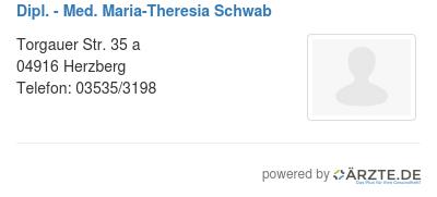 Dipl med maria theresia schwab