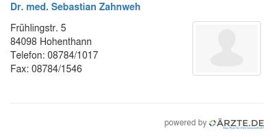 Dr med sebastian zahnweh