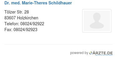 Dr med marie theres schildhauer