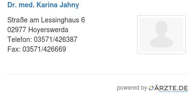 Dr med karina jahny 579643