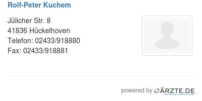 Rolf Peter Kuchem In 41836 Huckelhoven Fa Fur Orthopadie Und