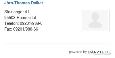Joern thomas daiker