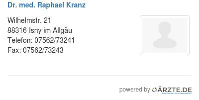 Dr med raphael kranz 578890