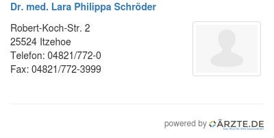 Dr med lara philippa schroeder