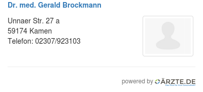 Dr Brockmann Kamen