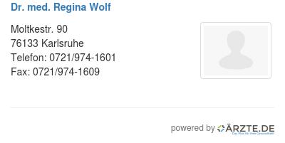 Dr med regina wolf