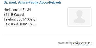 Dr med amira fadija abou rebyeh