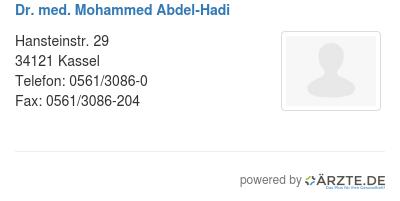 Dr med mohammed abdel hadi