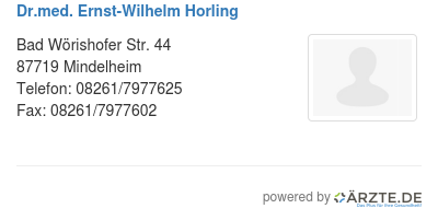 Dr med ernst wilhelm horling