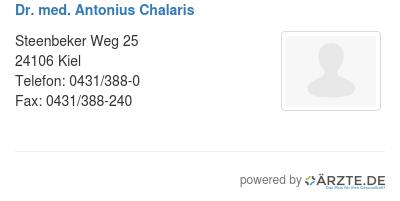 Dr med antonius chalaris
