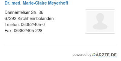 Dr med marie claire meyerhoff