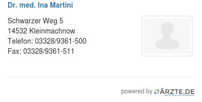 Dr med ina martini