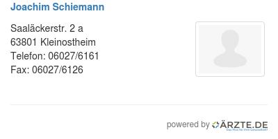 Joachim schiemann