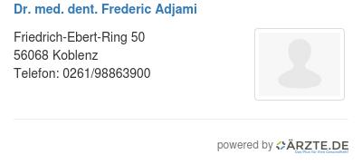 Dr med dent frederic adjami 537287