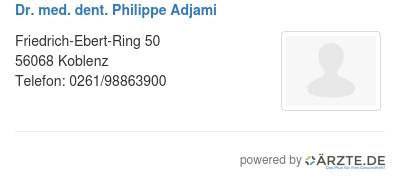 Dr med dent philippe adjami 537287