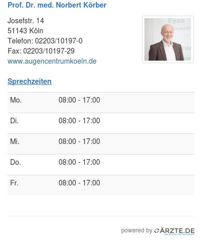 Prof dr med norbert koerber