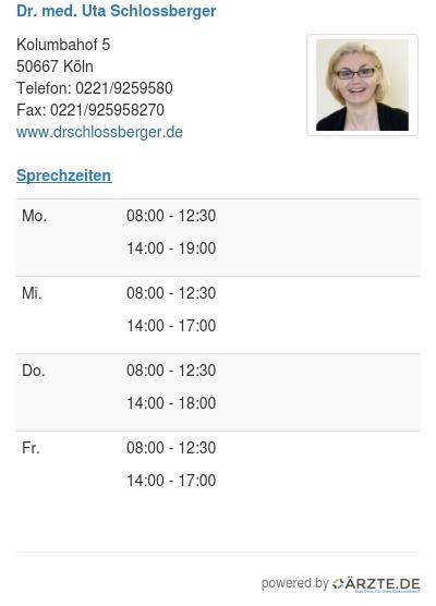 Dr med uta schlossberger 254648