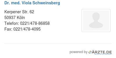 Dr med viola schweinsberg