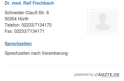 Dr med ralf fischbach