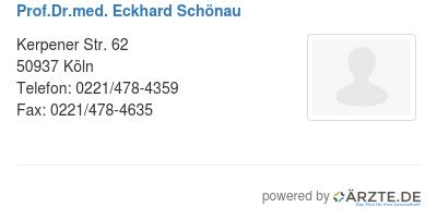 Prof dr med eckhard schoenau