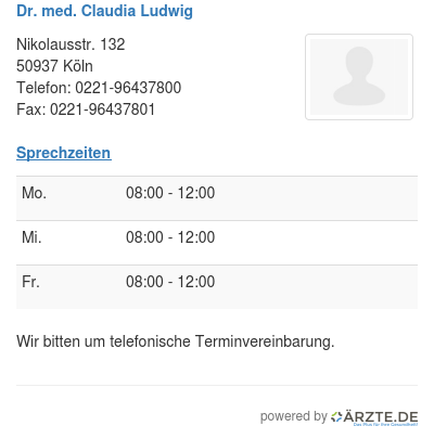 Dr med claudia ludwig