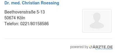 Dr med christian roessing 534937
