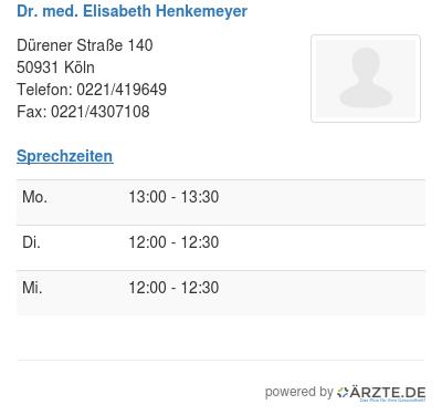 Dr med elisabeth henkemeyer
