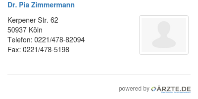 Dr pia zimmermann